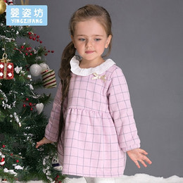 $enCountryForm.capitalKeyWord Canada - 2017 new winter girls dreses Baby and Toddler Girl's Sweet Plaid Long Sleeve Dress kids clothing