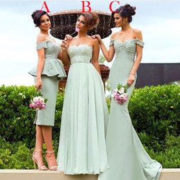 MerMaid style plus size bridesMaid dresses online shopping - Mixed Styles Bridesmaid Dresses Cheap Long For Weddings Mint Green Cap Sleeves Plus Size Button Back Mermaid Formal Maid of Honor Gowns