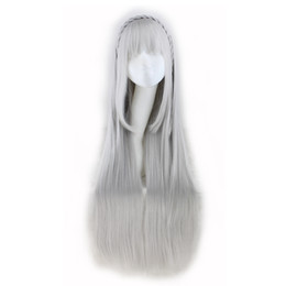 $enCountryForm.capitalKeyWord Canada - WoodFestival long grey straight wigs with bangs Life in a different world from zero emilia cosplay anime wig have braid fiber hair wigs
