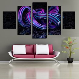Paint Art 3d NZ - Three-Dimensional Printing 5 Panel Abstract Art Canvas Painting Home Decoration Wall Art 3D Vivid Pictures Free Shipping