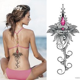 $enCountryForm.capitalKeyWord Canada - Wholesale-1pc Chest Flah Tattoo 24models large flower shoulder arm Sternum tattoos henna body back paint skull rose necklace Black Fire