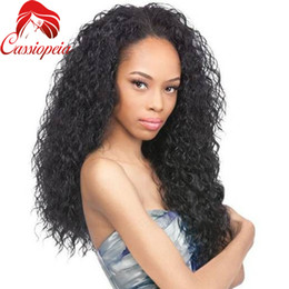 virgin indian remy hair for NZ - Indian Remy Virgin Hair Kinky Curly Wigs TOP Quality Human Hair Full Lace Lace Front Wigs Glueless Kinky Curly Wigs For Black Women