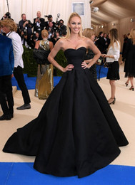 1fda64187fd 2017 Met Gala A Line Evening Dresses Long Candice Swanepoe In Strapless  Neck Black Prom Dress Red Carpet Celebrity Gowns