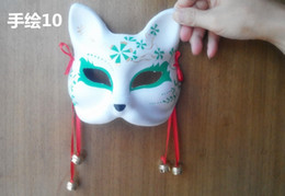 white fox cosplay 2020 - Hand-painted Fox Mask Endulge Japanese Full Face Pulp Halloween Animal Mask Masquerade Cosplay Party Masks 5 style free