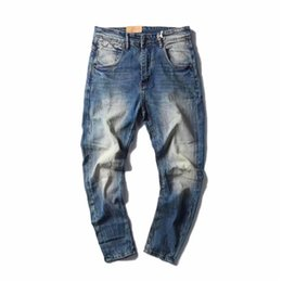Ship funding online shopping - The high quality new fund of winters jeans Men s clothes depth of water to wash Casual regular capris denim jeans