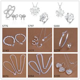 смешанные ювелирные изделия стерлингового серебра типа, ювелирные изделия кольца кольца серьги ожерелья способа 925 серебряные установили GTS68 освобождают перевозку груза