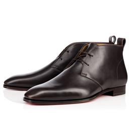 fc61c9e8 2016 caballero negro cuero genuino CLchristianloubouti milan zapatos de  hombre zapatos de vestir de boda fondos rojos de tacón bajo 39-46  fastshipping