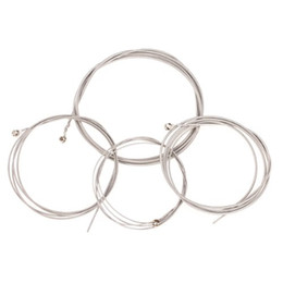 Steel guitar partS online shopping - Set of String Bass Guitar Parts Stainless Steel Silver Plated Gauge Strings