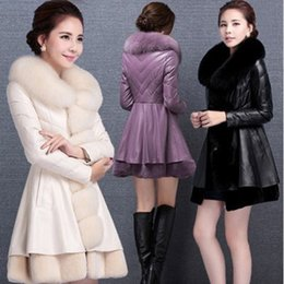 Chinese  2017 winter fashion women's luxurious faux fur coat Socialite thick warm leather jacket parkas Top quality sheepskin coats manufacturers