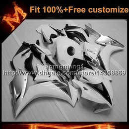 Motorcycle Body Kit Canada - 23colors+8Gifts Injection mold white Body Kit motorcycle cowl for HONDA CBR1000RR 2012-2013 CBR1000RR 12 13 ABS Plastic Fairing