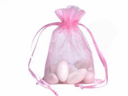 100pcs sacchetti di organza sacchetti di gioielli sacchetti di nozze sacchetti di regalo di festa di Natale 9 x 12 cm (3,6 x 4,7 pollici)