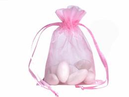 Мешки упаковки Organza 100pcs Ювелирные изделия мешков венчания вручают мешок подарка партии рождества 9 x 12 cm (3.6 x 4.7 дюйма)