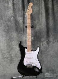 eric clapton guitars NZ - Custom Shop Eric Clapton Signature Black Electric Guitar BLACKIE Strat Ocaster Electric Guitar Maple Fingerboard Dot Inlay White Pickguard