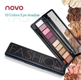 $enCountryForm.capitalKeyWord Canada - Novo 10 colors neutral eyeshadow palette contain make up mirror and brush   long lasting lower price