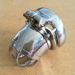 new male masturbation toys Canada - Lastest Steel Male Chastity Device and Arc Base Ring New Design Lock Sex Toys for Men Penis Masturbation BDSM