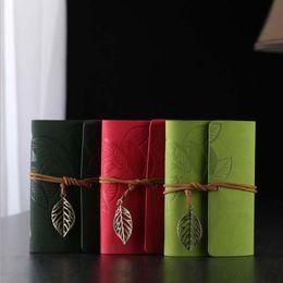 $enCountryForm.capitalKeyWord Canada - Vintage Leather Travel Journal Notebook Leaves Decoration Stationery Notebook Loose-leaf Note Book Stationery Student Notepads School Suppli