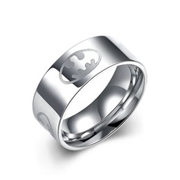 $enCountryForm.capitalKeyWord Canada - Hot Selling 316L Titanium Stainless Steel Men's Ring USA Size 7# 8# 9# 10# Batman Wide Finger Ring Platinum White Gold Plated Party Jewelry