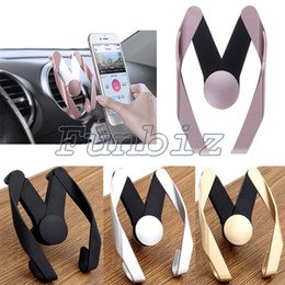 Discount mobile selling stand Hot Selling Universal Adjustable M Model Mobile Car Phone Holder Air Vent Mount Cell Phone Stand Holder For iPhone X 8 plus Samsung