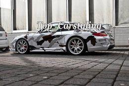$enCountryForm.capitalKeyWord NZ - Brown White Black Snow Camouflage Car wrap Film Camo Wrapping Vinyl Foil With Bubble Free Truck Body foil Sticker size 1.52x30m Roll