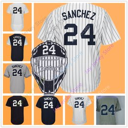 Army mAsks online shopping - Gary Sanchez Jersey Men Women Youth With Face Mask Patch Home Away Nickname Kraken White Pinstripe Grey Blue