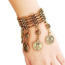 $enCountryForm.capitalKeyWord NZ - Bohemian Tassel Coin Bracelet multilayer long gold bracelet vintage gypsy bohemian ethnic coin bracelets women fine jewelry