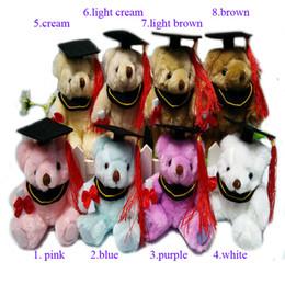 Doll Bulk Canada - 2016 New Bulk 14cm Dr. Oso Graduation Teddy Bear Plush Long Wool Bear Dolls Cartoon Stuffed Toys For tudents Personalized graduation gift