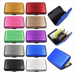 Business Card Holder Cell Phone Case Canada - Card Holder Wholesale New Aluminum Business ID Credit Card Wallet Waterproof RFID Card Holder Pocket Case Box