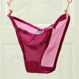 $enCountryForm.capitalKeyWord Canada - Wholesale-sexy panties 2016 Bikini fashion Lace ventilation Simple taste Antibacterial underwear women calcinha string pink tanga lingerie