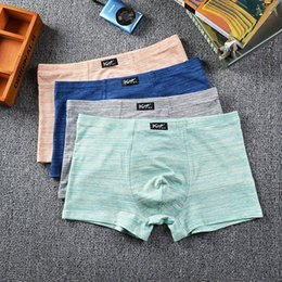 Natural Cotton Underwear Australia - Panties Mens 3Pcs\lot Underwear Organic Natural Cotton Boxers Men Sexy Boxer Ventilate Plus Size Boxers L XL XXL XXXL