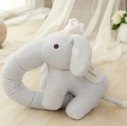 christmas pillows Canada - 30cm Cute new style toy long nose elephant plush toys U-neck pillow cushion elephant doll stuffed plush Christmas gift