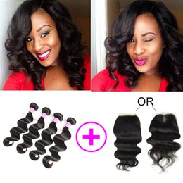 Remy bRazilian haiR pRices online shopping - New Arrival Cheap Whosales Price Body Wave Bundles with Lace Closure Brazilian Mongolian Indian Peruvian Malaysian Cambodian Virgin Hair