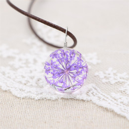 $enCountryForm.capitalKeyWord Canada - Hot Sale Gorgeous Clear Crystal Ball True Charm Flower Pendant Vintage Neckalces for Women Gift Wholessale Cheap Prcie