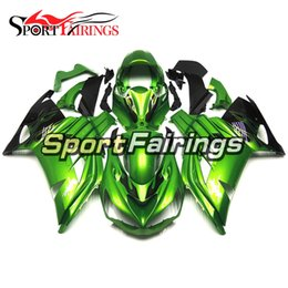 $enCountryForm.capitalKeyWord Canada - Injection Fairings For Kawasaki ZX-14R ZX14R 12 13 14 15 2012 - 2015 ABS Plastics Motorcycle Fairing Bodywork Cowling Green Black Flame New