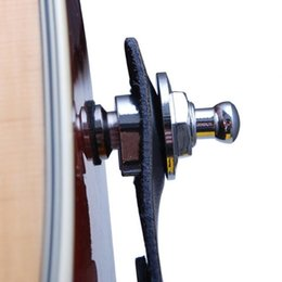 $enCountryForm.capitalKeyWord NZ - New Round Chrome Head Guitar Strap Locks System Parts Electric Guitar Bass Accessories