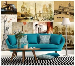 wall puzzle Australia - High end Custom 3d photo wallpaper murals wall paper Retro to do the old building puzzle 3D living room wallpaper background wall home decor