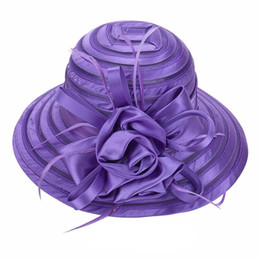 Plain mesh hats online shopping - Newest Mesh Kentucky Derby Church Hat For Women Organza Hat Wide Brim Flat Caps Colors