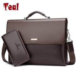 male laptop bags 2019 - Wholesale- 2017 New Arrival Famous Brand Business Men Briefcase Bag PU Leather Laptop Bag Briefcase Male PU Leather Shou
