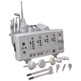 Galvanic Ultrasonic Machine Canada - 6 in 1 Multifunctional Skin Care Machine Ultrasonic Facial Massager High Frequency Ultrasonic Facial Brush Cleanser Galvanic