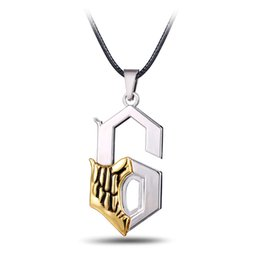 $enCountryForm.capitalKeyWord UK - Hot! Anime Bleach Pendant Necklace Grimmjow JeagerJaques Metal 6 Shape Pendant Necklaces Jewelry Kids Boys Gifts For Men