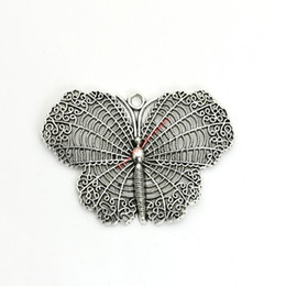 Chinese  2pcs Antique Silver Plated Butterfly Charms Pendants for Bracelet Jewelry Making DIY Necklace Craft Handmade manufacturers