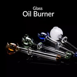 12cm bong online shopping - 12cm glass oil burner pipe oil burner glass tube for water pipe Glass bong bongs oil rig