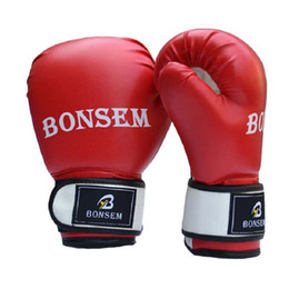 $enCountryForm.capitalKeyWord Australia - Brand PU Boxing Gloves Fists Ventilation Type Boxing Bandage Protection Women Men Fighting Sandbag Training Glove Free Shipping