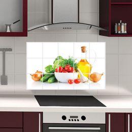 $enCountryForm.capitalKeyWord NZ - AY3018 Vegetable Anti-oil Stickers for Kitchen PVC Printed Fruit Anti-oil Decals For Kitchen Wall Rooms Practical Stickers Home Decor