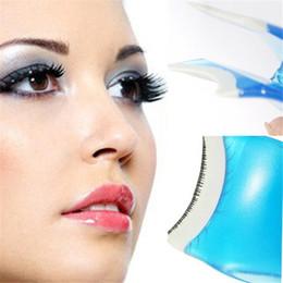 false eyelashes mascara 2019 - Wholesale- Cute Mini False Eyelash Applicator Mascara Eyelash Clip Curler Tweezers Make up Tool Beauty Kit cheap false e