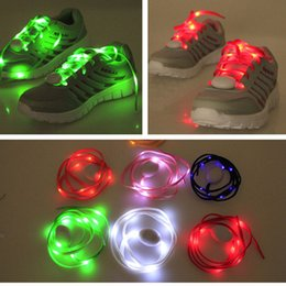 Shoe Shoelaces Canada - New LED Lover Shine Shoelace Flash Sports Shoes Shoelace Multi Color Light in the Dark Shoelace