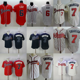 a4b2933526a ... Stitched MLB Jersey Factory Outlet Mens Womens Kids Youth Atlanta Braves  6 Bobby Cox 7 Dansby Swanson Red White ...