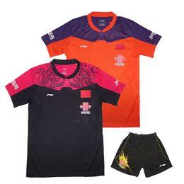 Li Ning Shorts Red Canada - Chinese Pingpong Team Jersey , 2016 LN Zhang Jike Jersey, li ning Table Tennis tshirt Men women , table tennis sportswear 1set 36139