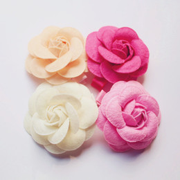 $enCountryForm.capitalKeyWord NZ - 20pcs lot Rose Flower Hair Clips Kids Girls Hotsale Floral Orange Barrettes Baby Hairpin Flower Shape Free Shipping 3.5cm Clip