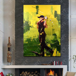 $enCountryForm.capitalKeyWord NZ - Wall Art Canvas Hand made Abstract Modern Play Golf Oil Painting Pictures for Living Room Decoration No Framed