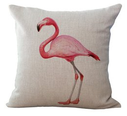 $enCountryForm.capitalKeyWord Canada - Auspicious greater flamingos Phoenicopterus emoji pillow massager decorative pillows art painting home decor birds kids gift
